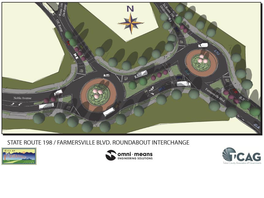 State Route 198 / Farmersville Blvd. Roundabout Interchange